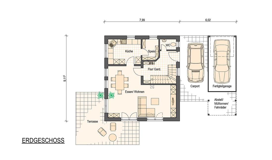 Family Compakt – Grundriss Erdgeschoss