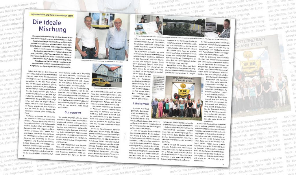 Bericht im Sparkassen-Magazin