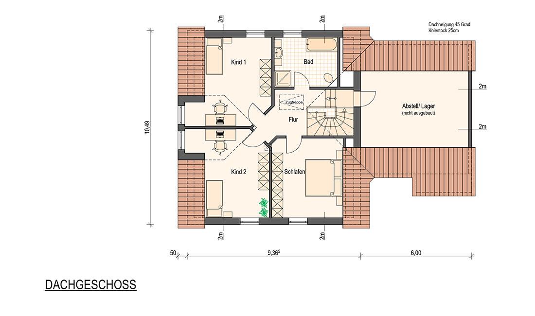 Family Allround – Grundriss Dachgeschoss
