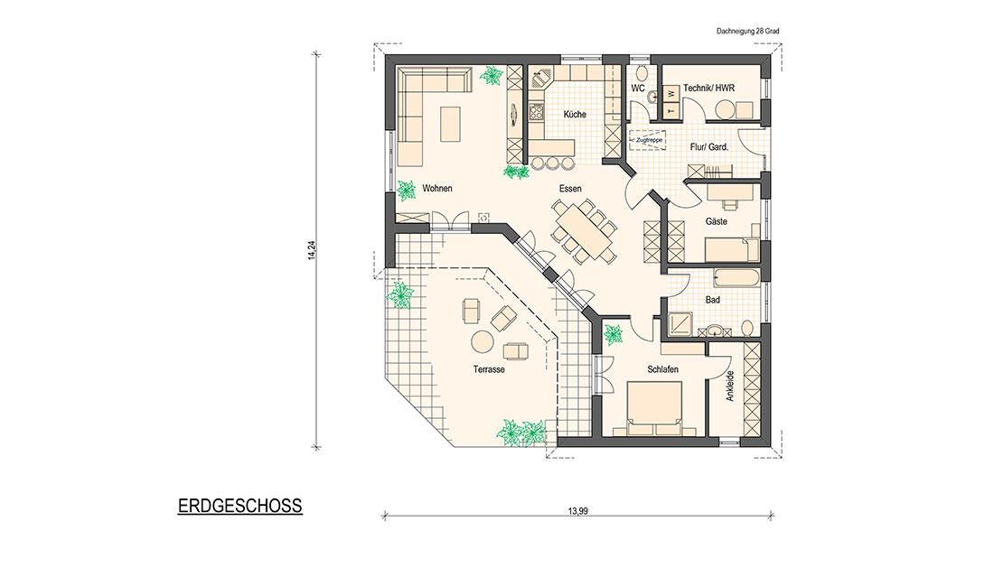 Family Concept – Grundriss Erdgeschoss