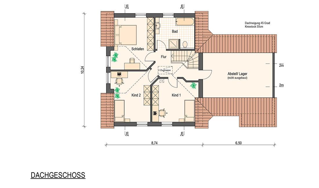 Family Trend – Grundriss Dachgeschoss
